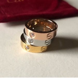 Jewelry - Restocked! Love Ring with Screws & Diamonds